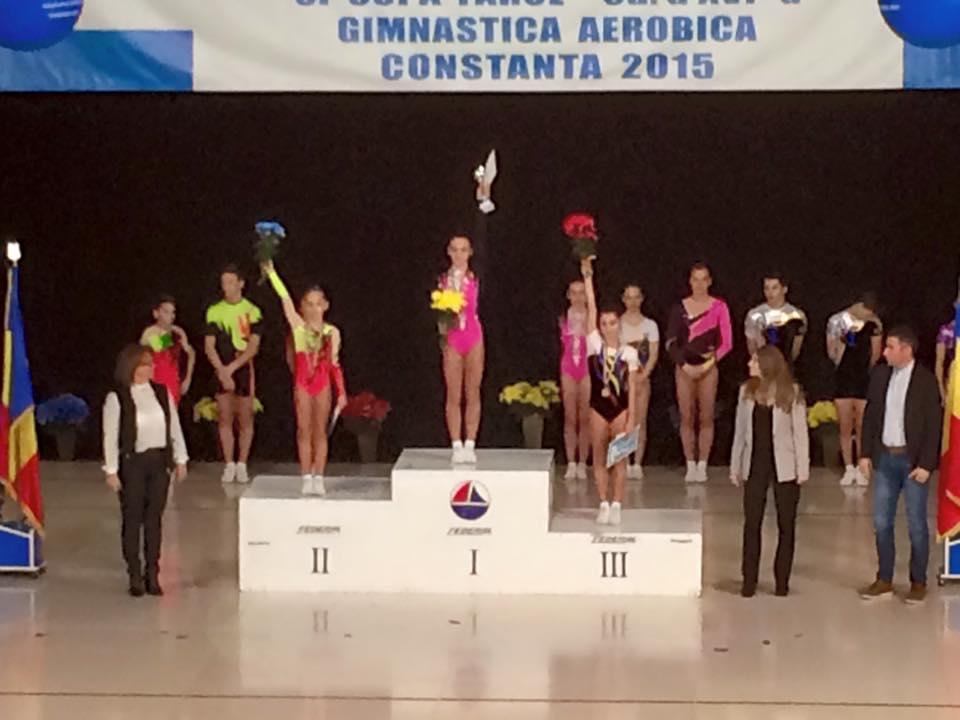 Miruna Iordache pe podium