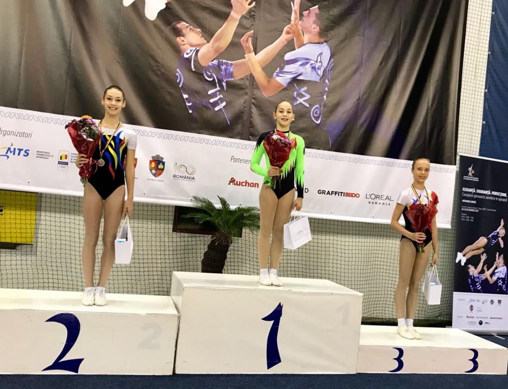 Aur pentru Miruna Iordache la individual feminin, grupa a II-a